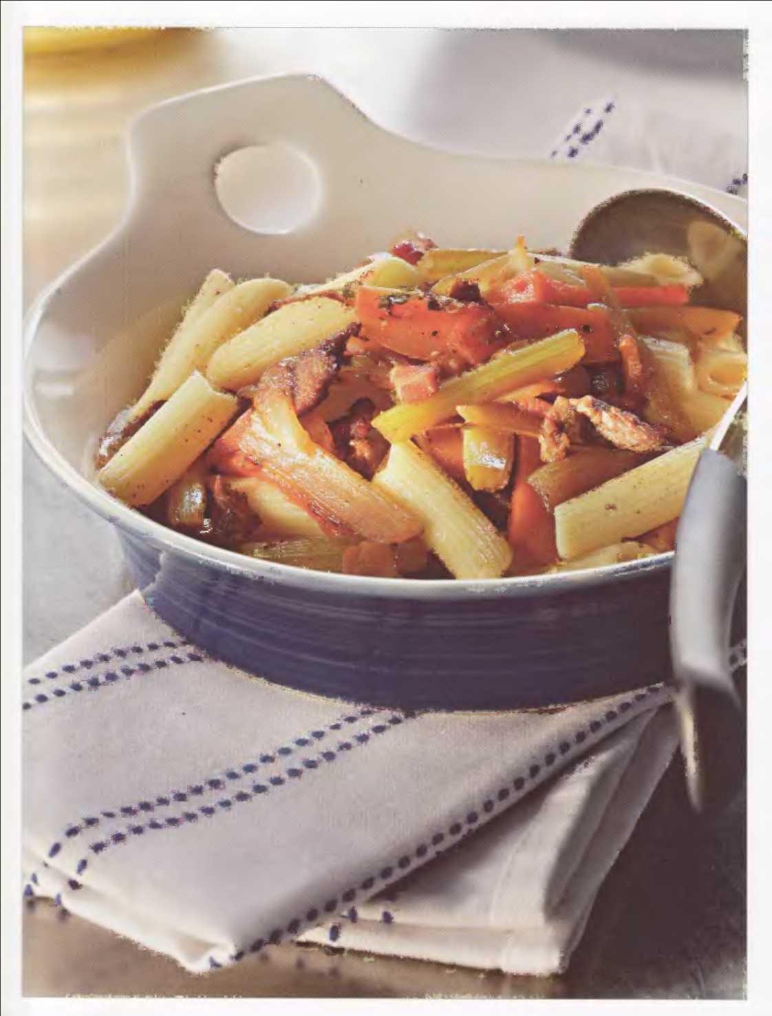 пенне, итальянское блюдо, пенне с бараниной и сельдереем