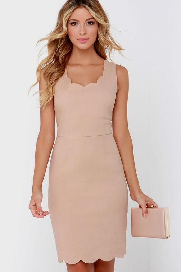 бежевый цвет, бежевое платье